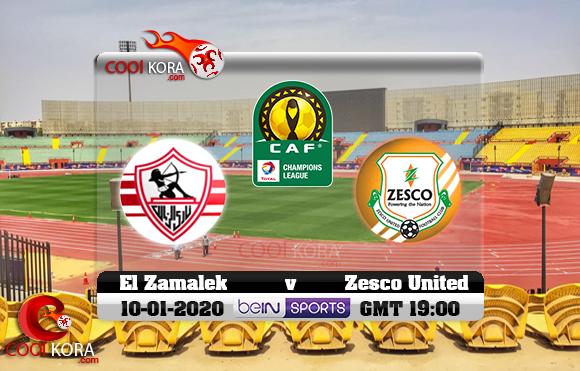 مشاهدة مباراة الزمالك وزيسكو يونايتد اليوم 10-1-2020 دوري أبطال أفريقيا