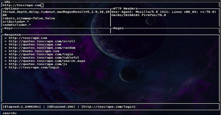 Evine : Interactive CLI Web Crawler