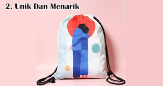 Souvenir Yang Unik Dan Menarik merupakan keunggulan menggunakan tas serut sebagai souvenir dan barang promosi