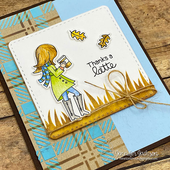 2019 Fall/Winter Coffee Lovers Blog Hop | Thanks a Latte Card by Jennifer Jackson | Pumpkin Latte Stamp Set by Newton's Nook Designs #newtonsnook #handmade
