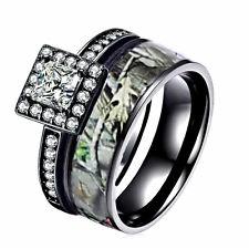 Cheap Camo Wedding Ring Sets