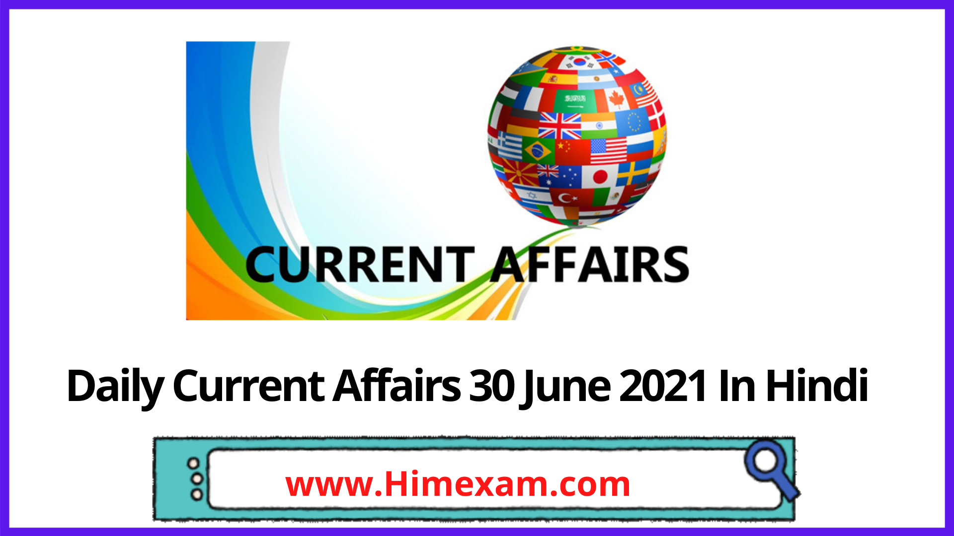 Daily Current Affairs 30 June 2021 In Hindi