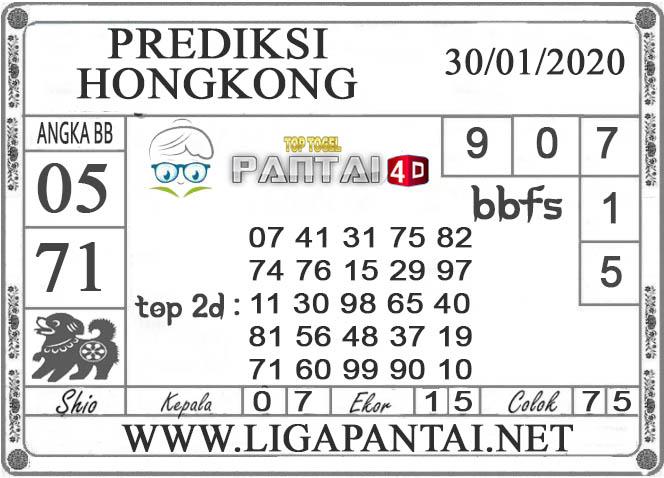PREDIKSI TOGEL HONGKONG PANTAI4D 30 JANUARI 2020