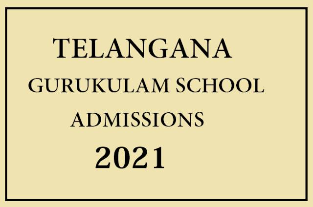 Telangana Gurukulam School Admissions