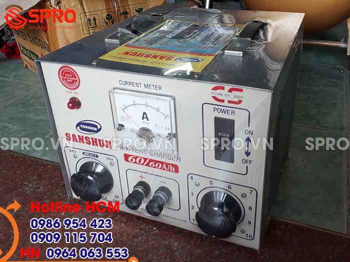 Mua máy sạc bình ắc quy xe máy sanshun giá rẻ tại tp HCM