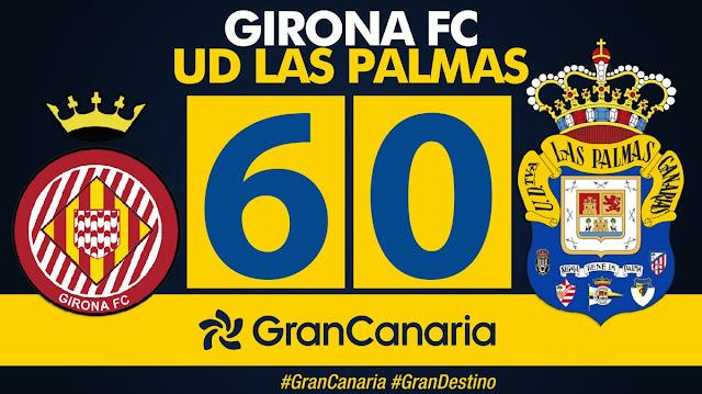 Marcador final Girona FC 6-0 UD Las Palmas