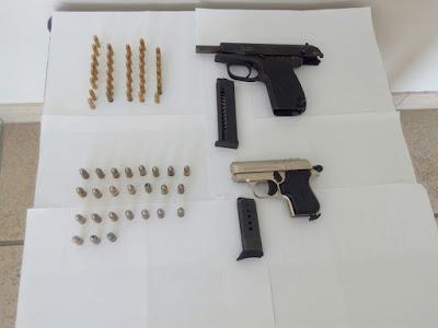 Συνελήφθη 56χρονος με δύο πιστόλια και 60 φυσίγγια