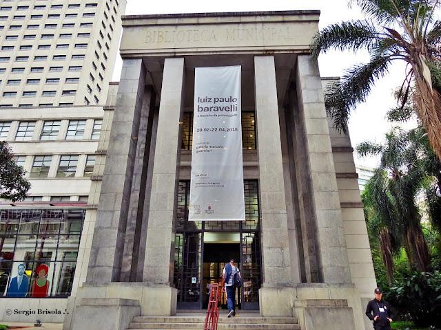 Fachada da Biblioteca Mario de Andrade - Centro - São Paulo