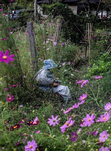Boneca 'camponesa' dá 'vida' à paisagem rural de Nagoro.