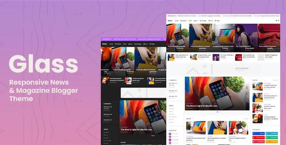 Glass - Responsive News & Magazine Blogger Theme Download