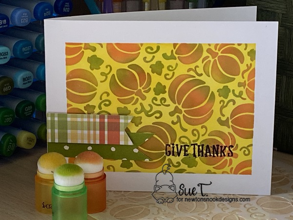 Give thanks by Sue T. features Pumpkin Patch and Fall Roundabout by Newton's Nook Designs; #newtonsnook