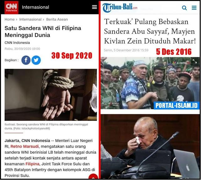 Satu Sandera WNI di Filipina Tewas, Netizen Teringat Jasa Kivlan Zein Bebaskan Sandera, Tapi Setelah Itu Dituduh Makar