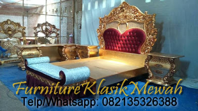 SELL INDONESIA FURNITURE-CLASSIC BED JEPARA DESIGN-CLASSIC FRENCH FURNITURE