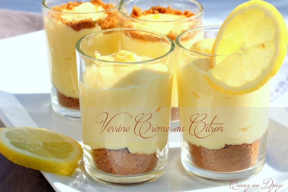 la recette dessert l 233 ger et rapide creme legere au citron et speculoos blogs de cuisine