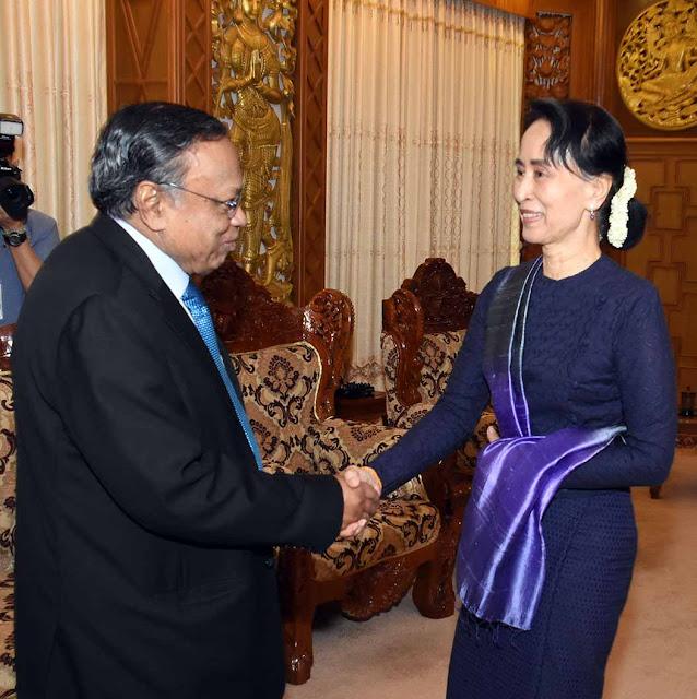 Abul Hassan Mahmood Ali - Aung San Suu Kyi