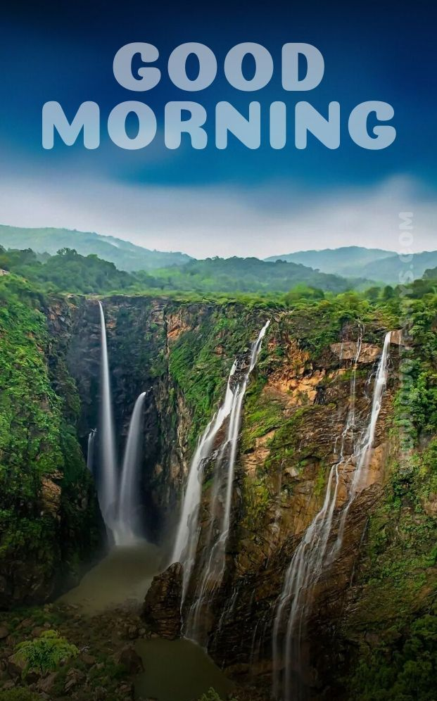 Beautiful Good Morning Water Falls