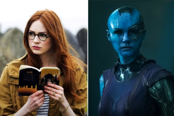 Karen Gillan in the Guardians of the Galaxy