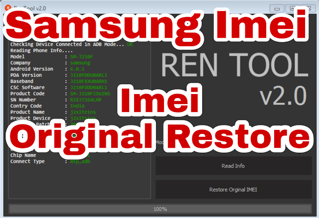 Ren Tool samsung imei Restore Full Crack 2.0 Download Free 2019