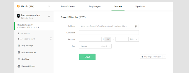 Mengirim Crypto di Wallet Trezor Model T