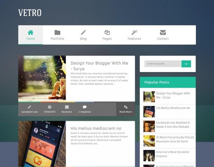 Blogger için VETRO Teması ZanaLab