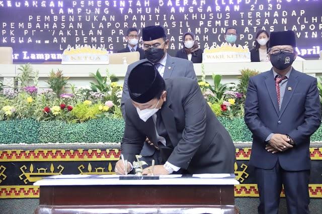 Pemerintah Provinsi Lampung Raih Opini WTP Dari BPK RI 7 Kali berturut-turut