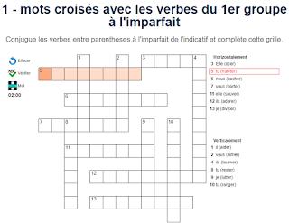 Orthoblog Fr Jeu De Conjugaison Mots Croises A L Imparfait De L Indicatif