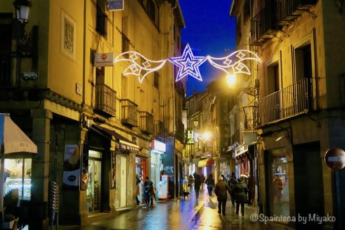 クリスマスシーズンの世界遺産セゴビアの旧市街
