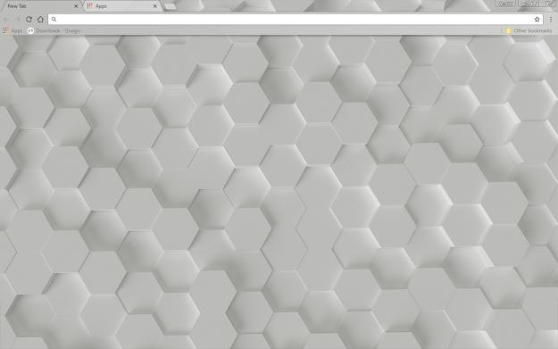 White Hex Google Chrome Theme