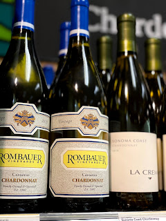 Two bottles of Rombauer Chardonnay