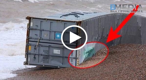 Tiba2 Ada Kontainer Terdampar Di Pantai, Bila Dibuka Isinya Buat Semua Orang Naik Gila Dan Berebut- rebut!!!