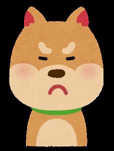 いろいろな表情の犬のイラスト「怒り顔」