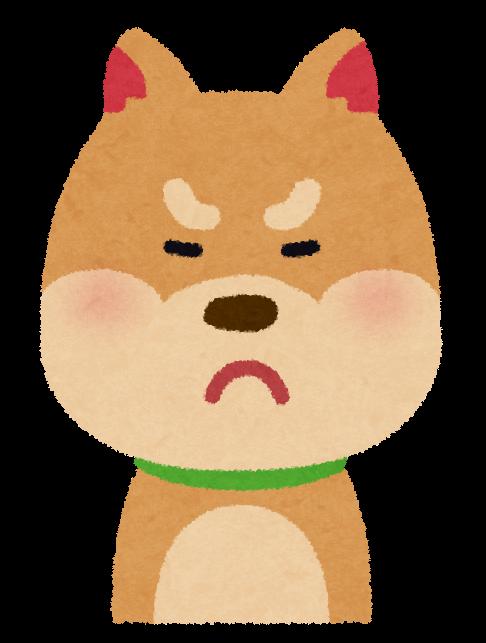 いろいろな表情の犬のイラスト笑顔怒り顔泣き顔笑い顔