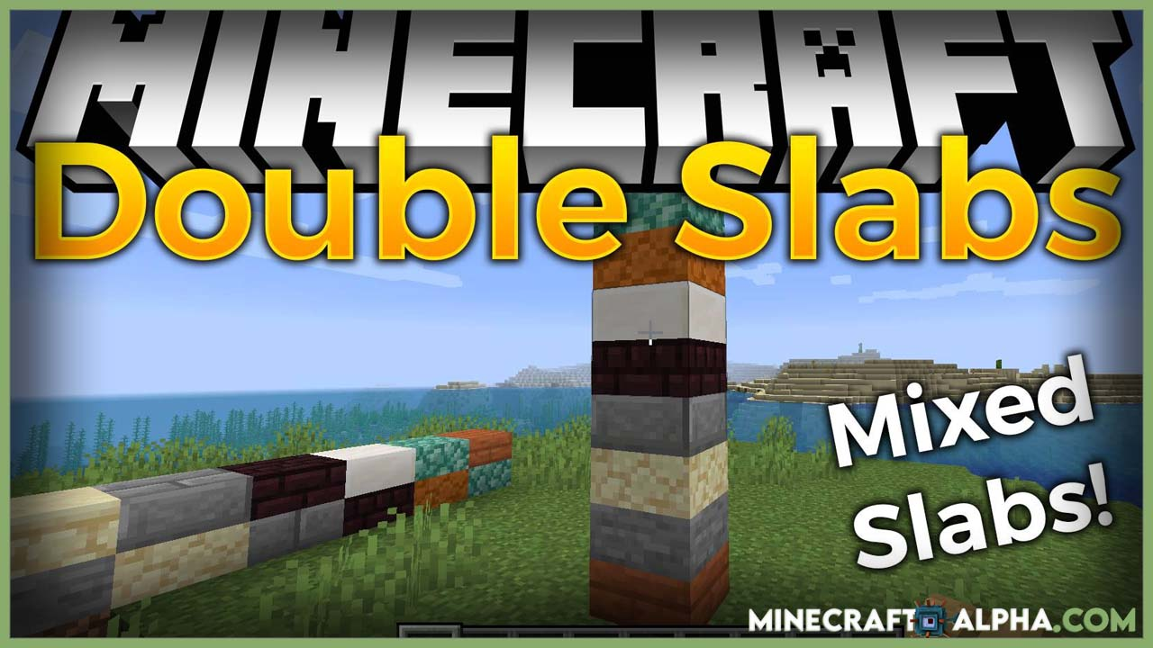 Minecraft Double Slabs Mod 1.17.1 (Awesome Mixed Slabs)