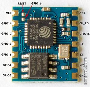 ESP-04 pinout