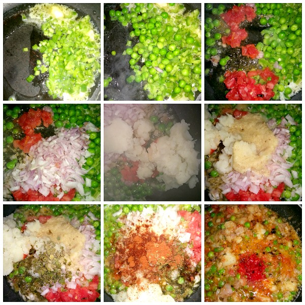 Step by step pictures pf how to make Bombay Pav Bhaji