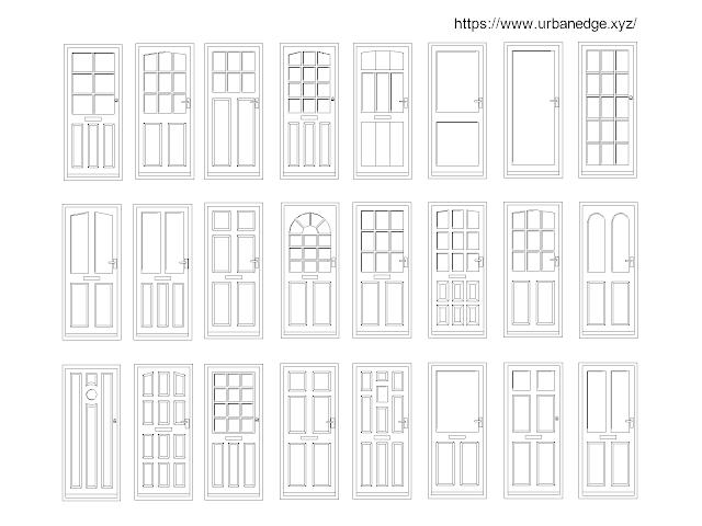 Door Elevations free cad blocks download - 20+ free door cad blocks