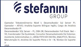 Grupo Stefanini abriu 536 vagas de emprego pelo país