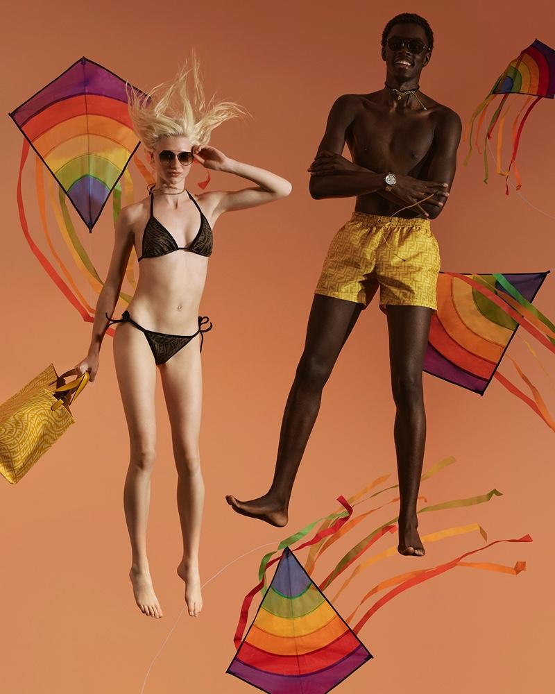 Fendi Summer Vertigo Beachwear 2021 Campaign