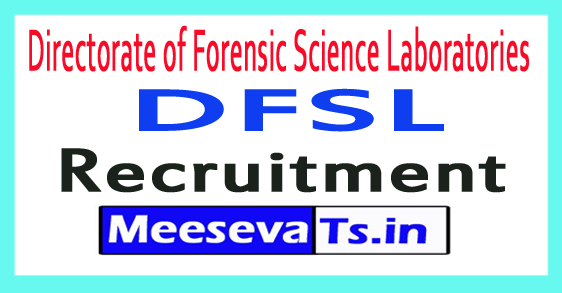 Directorate of Forensic Science Laboratories DFSL Maharashtra Recruitment Notification 2017