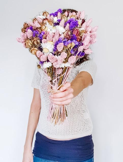 gagner un bouquet de fleurs séchées
