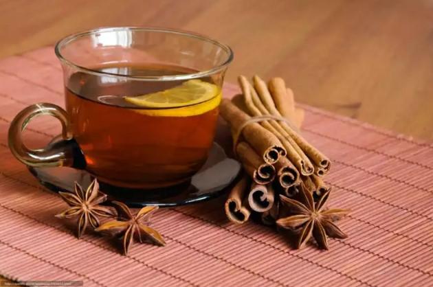 chá de maça com canela