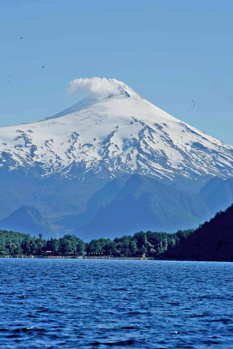 Alerta balística que se decretó en el volcán Villarrica