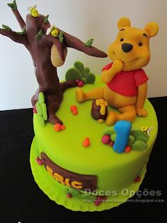 bolos Winnie the pooh bragança doces opções