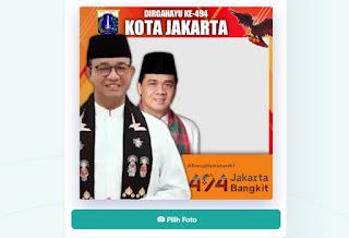 Frame twibbonize Dirgahayu Jakarta - kanalmu
