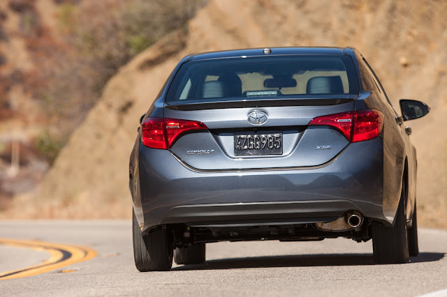 Rear view of 2017 Toyota Corolla XSE
