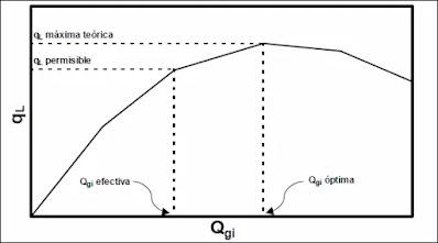 Comportamiento de ql vs Qgi en pozos de levantamiento por Gas Lift