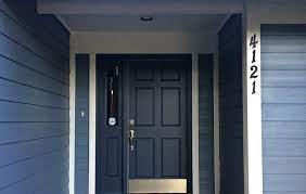 Cat Pintu Kayu biru navy