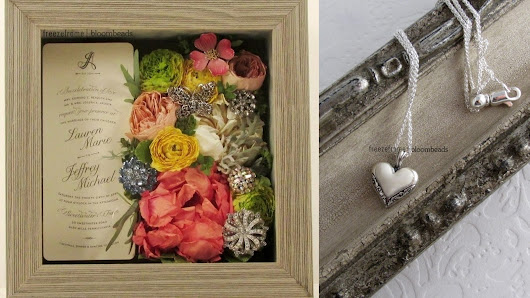 Art and Jewelry Made from Wedding Flowers