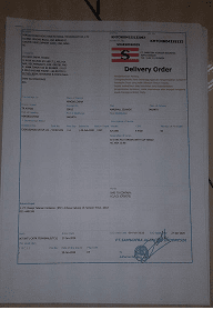 Contoh Dokumen Delivery Order (DO) Laut-Udara Dan Contoh Dokumen Delivery Note