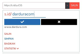 Cara membuat custom link s.id